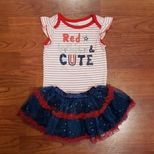 Babygirl 12mth 4th of July outfit